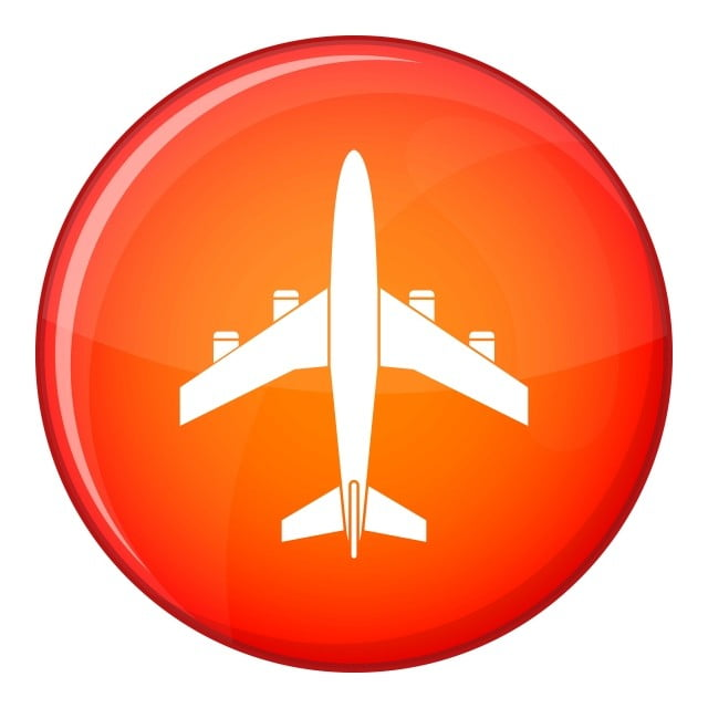 pngtree airplane icon flat style png image 1909983
